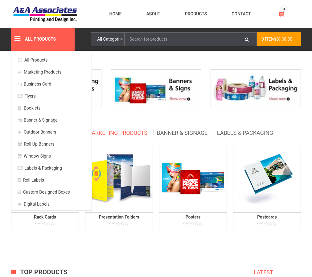 A&A Associates Printing Press   Labels, Signs & Windsor ON